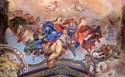 Image:The Feast of the Assumption - Mary overflowing with joy